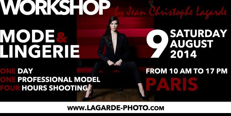 Workshop Mode et lingerie Jean Christophe Lagarde Photographe Paris