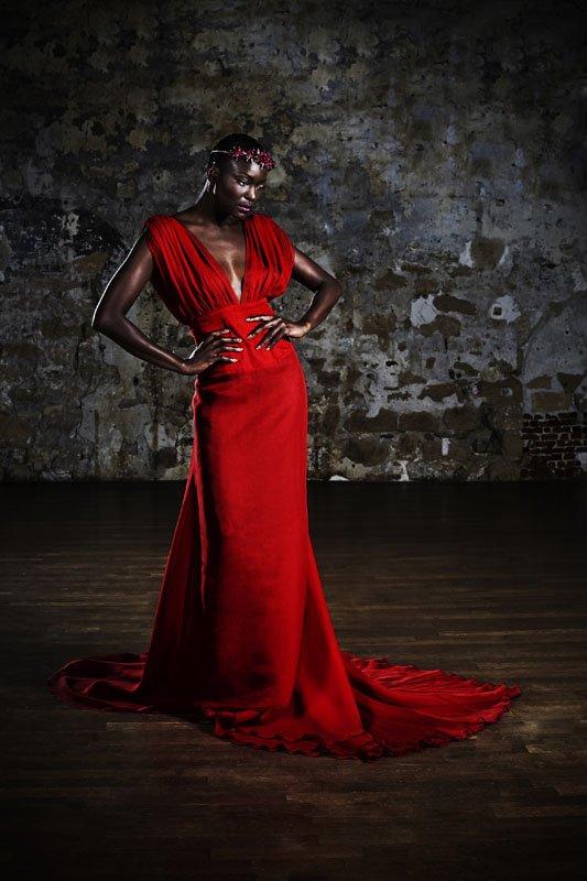 Miriam Odemba, robe sébastien Payen
