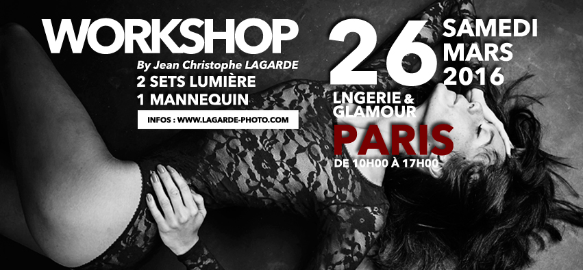 stage photo lingerie à Paris par jean christophe lagarde photographe