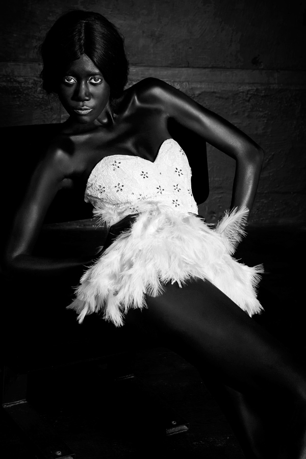 Serie Black Swan en noir et blanc par Jean Christophe Lagarde Photographe Paris Mannequin femme, seance photo, photo mode, photo lingerie, photo nu